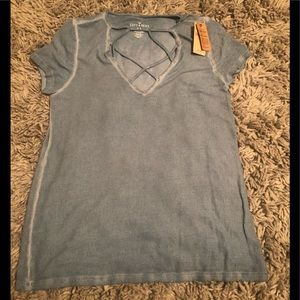 American Eagle Teal Ribbed Tee